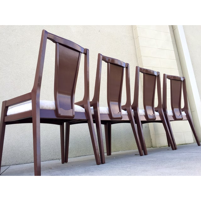 High Back Lacquered Dining Chairs - Set of 6 - Image 11 of 11