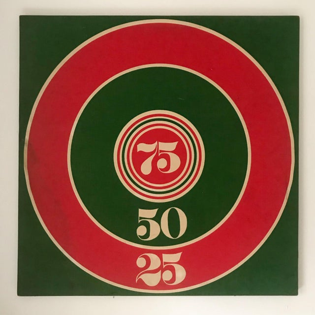 1960s Modern Art Target Silkscreen on Fabric For Sale - Image 5 of 5