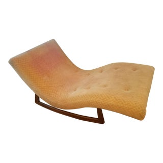 Vintage Mid Century Adrian Pearsall Rocking Chaise Lounge For Sale
