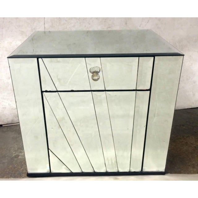 Ello Ello Mirrored Nightstands Side Tables - Pair For Sale - Image 4 of 6