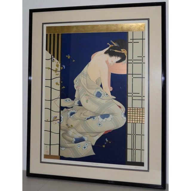 "Morita Haruyo (B. 1945, 森田 春代) ""Natsu N Yo"" Japanese Serigraph C.1980s For Sale - Image 11 of 11"