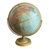Image of Repolgle Globes Inc. LeRoy M. Tolman Cartographer World Ocean Series Desk Globe For Sale