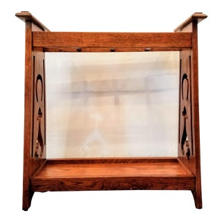 English Brown Oak Arts & Crafts Entry Stand for Canes, Parasols, Swagger Sticks For Sale