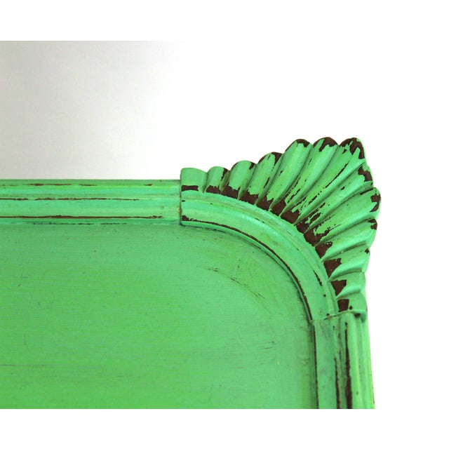 Vintage Georgian Style Green Painted Coffee Table For Sale - Image 5 of 7