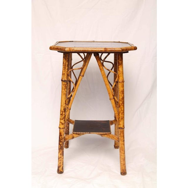 19th Century English Bamboo Lacquer Side Table - Image 2 of 6