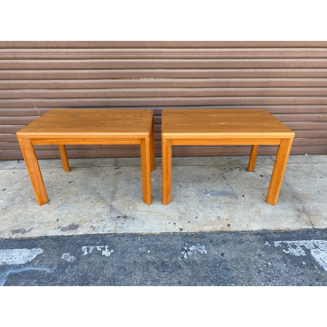 Mid Century Danish Modern Teak Side Tables by Vejle Stole - a Pair For Sale In Los Angeles - Image 6 of 6