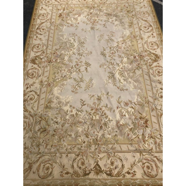 1950s Absolutely Stunning French Aubusson Needlepoint Rug For Sale - Image 5 of 6