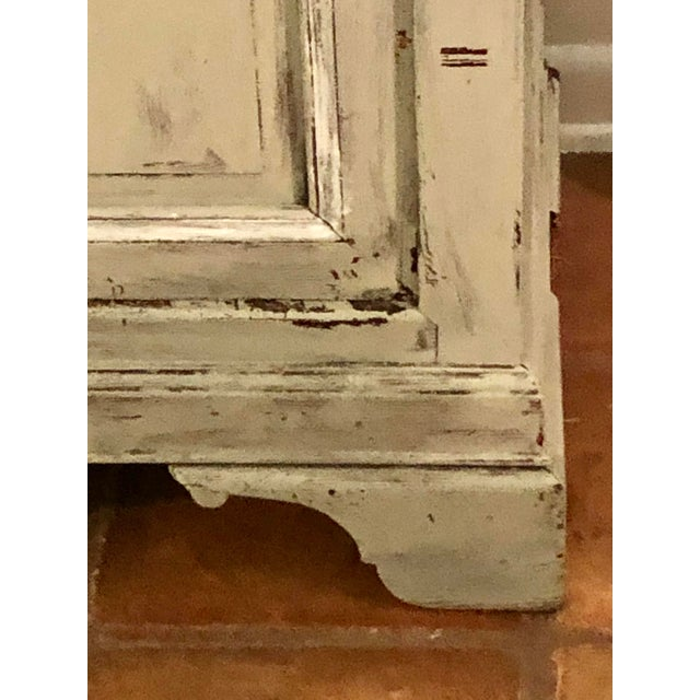 Light Gray Sideboard With Double Doors For Sale - Image 4 of 11