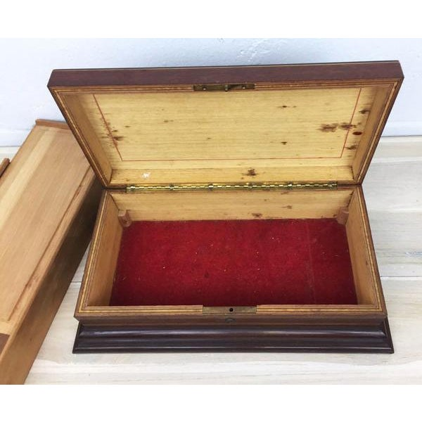 Brown Vintage Cigar Humidor For Sale - Image 8 of 12