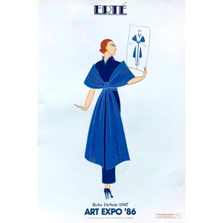 "Erte' Art Expo 1986 Exhibition ""Robe De Soir"" Print For Sale"