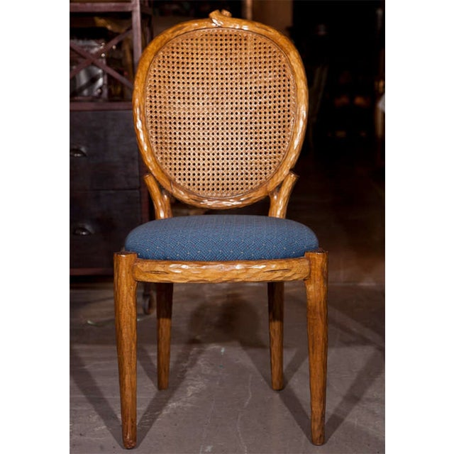 French Louis XIV Style Caned Side Chairs - Pair - Image 3 of 8