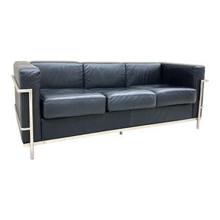 1928 Le Corbusier & Pierre Jeanneret for Cassina 'Lc2 Petit Modele Three-Seat' Sofa