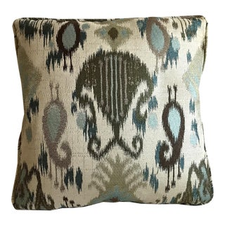 Custom Tailored Brocade Pillow For Sale