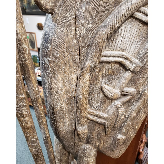 Brown Mid 20th Century Senufo Porpianong Hornbill Wood Sculpture From the Ivory Coast For Sale - Image 8 of 10