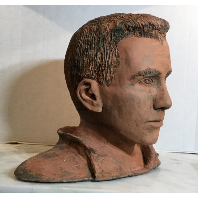Young Man Terra Cotta Bust Signed MD For Sale In Miami - Image 6 of 13