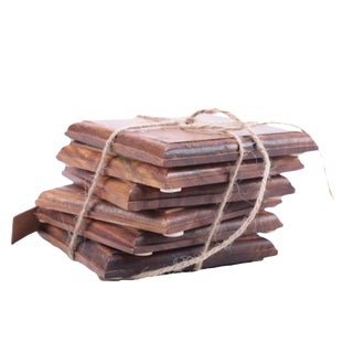 Indian Rosewood Coasters - Set of 6 For Sale