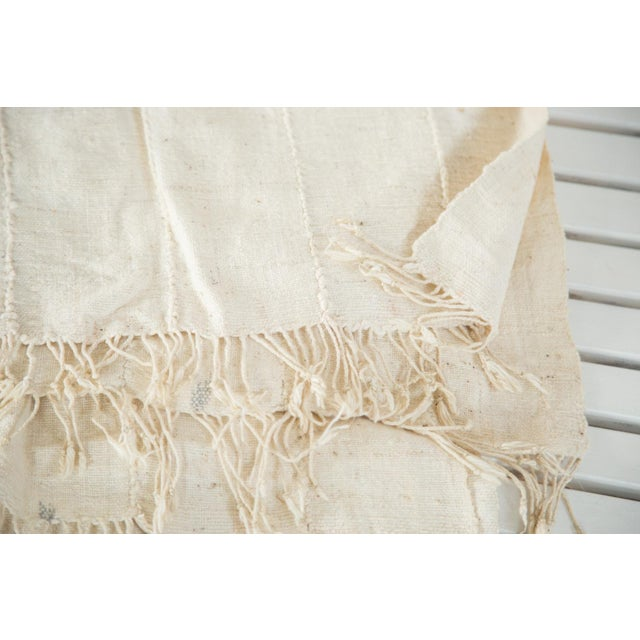 """Vintage African Textile Throw - 3'7"""" X 5'3"""" - Image 4 of 5"""