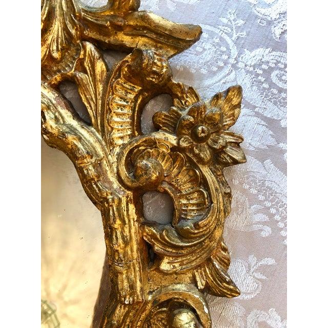 Italian Cornucopia Gilt Wood Mirror, C. 1890-1930 For Sale - Image 9 of 13