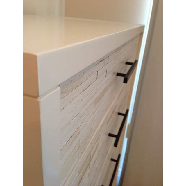 Contemporary White Oak Five Drawer Dresser - Image 5 of 6