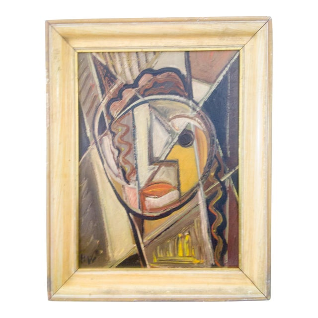 Portrait of Female Oil Painting by Signed BW For Sale