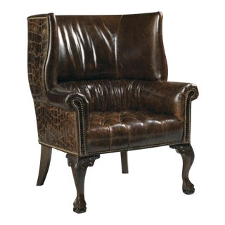 Kenya Crocodile Wingback Chair - Never Used