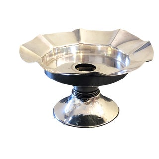Sterling Candle Holder with Bobeche For Sale