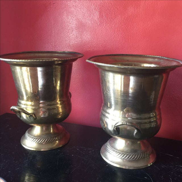 Petite Brass Champagne Buckets - A Pair - Image 5 of 6