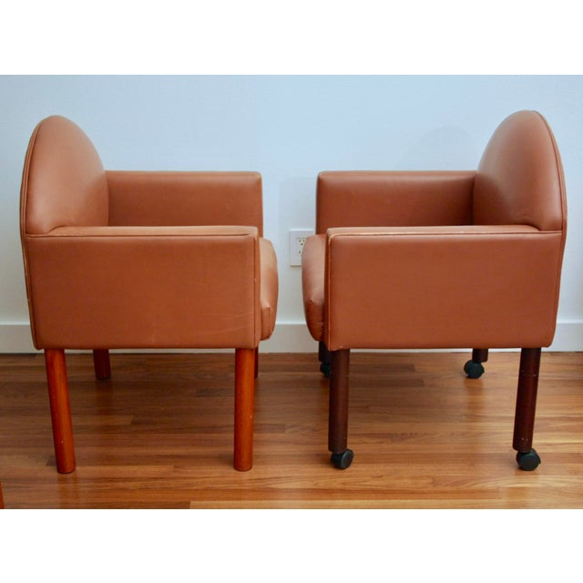 Postmodern Leather Chairs, Set of 2 For Sale In Dallas - Image 6 of 11