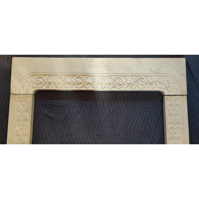 Victorian Early 20th Century Marble Fireplace Mantel For Sale - Image 3 of 11