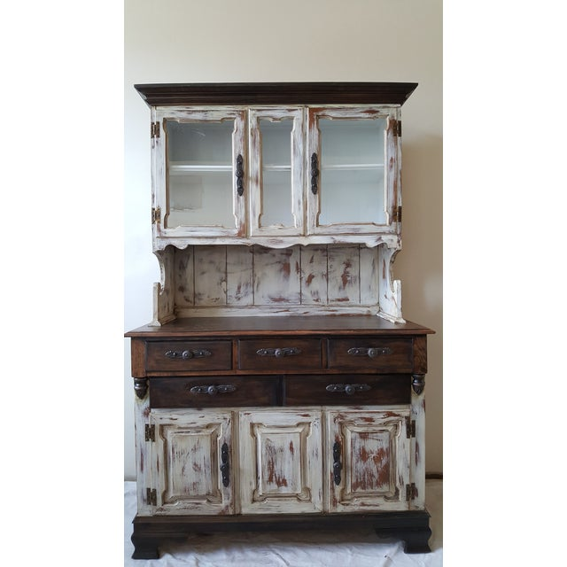 Shabby Chic Young Republic Brand Hutch / Buffet - Image 2 of 6