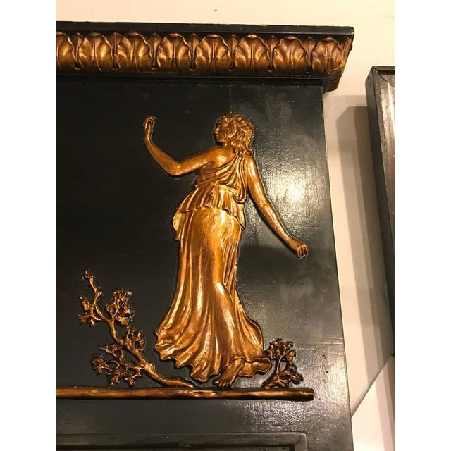 French Ebonized Neoclassical Style Wall or Console Mirror For Sale In New York - Image 6 of 11