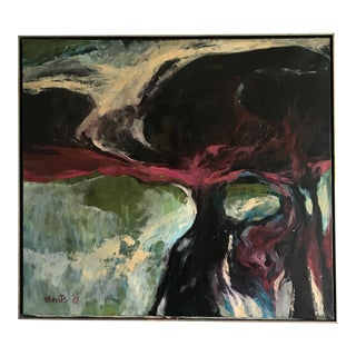 1968 Abstract Large Scale Oil on Canvas Painting by Larry Blovitz For Sale