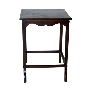 Vintage Indian Wooden Side Table For Sale