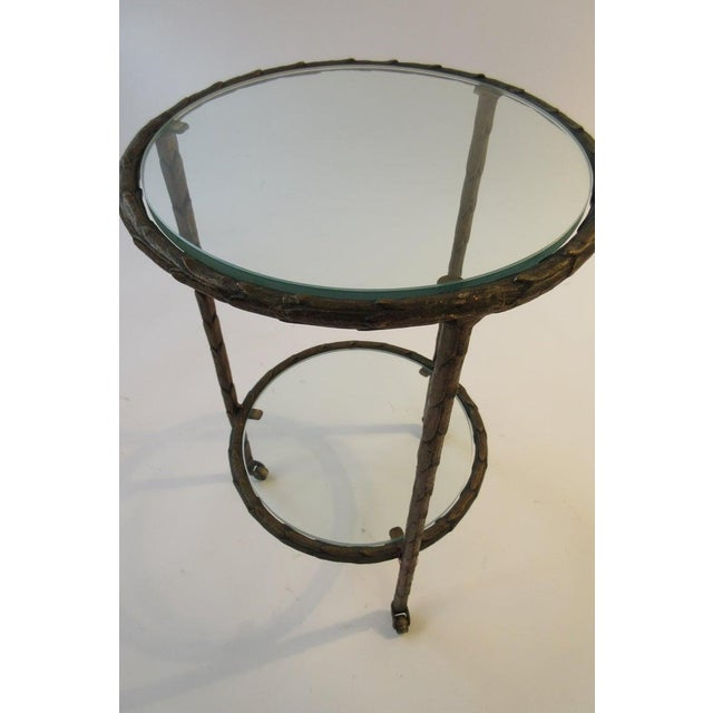 Mid-Century Modern 1950s Baguès Bronze Circular Nesting Tables For Sale - Image 3 of 13