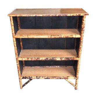 19th Century Victorian Bamboo Bookshelf For Sale