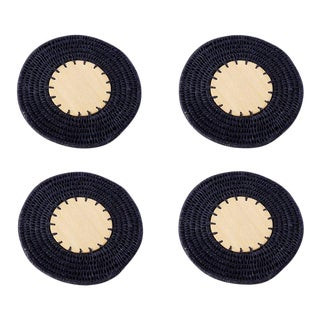 Round Coasters Indigo - Set of 4 For Sale