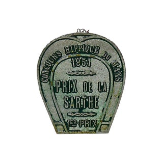 1951 French Horse Show 1st Place Trophy Plaque For Sale