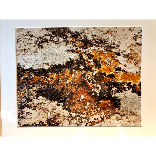 A dramatic, vintage, untouched, abstract photograph circa 1980s by artist Willy Skigen. Beautifully matted and mounted...