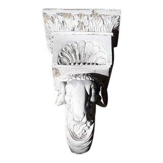 Antique Plaster Rams Head Corbel/Planter For Sale