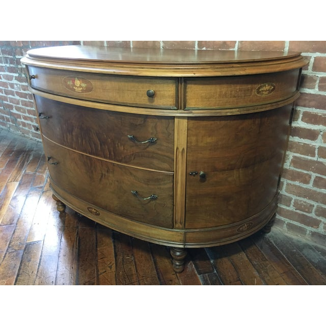 20th Century Art Nouveau Walnut Demi Lune Console For Sale In New York - Image 6 of 13