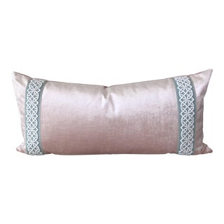 Scalamandre Trim Pink Velvet Pillow