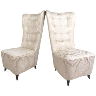 Italian Modern Slipper Chairs in the Style of Paolo Buffa - A Pair For Sale