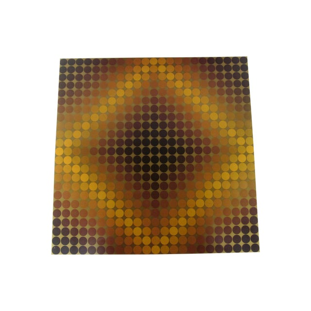 Vasarely Op Art Lithograph For Sale