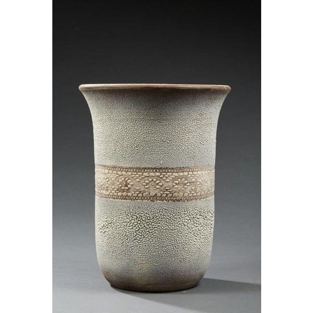 "Jean BESNARD (1889 - 1958), Important glazed ceramic vase, Signed and dated under the base : ""Jean Besnard, 1932"","
