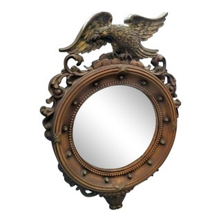 Vintage Syroco Petite Federal Eagle Bulls Eye Wall Mirror For Sale