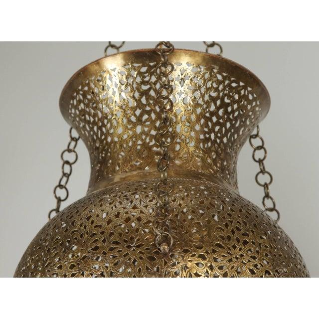 Moroccan Moorish Brass Chandelier For Sale In Los Angeles - Image 6 of 8
