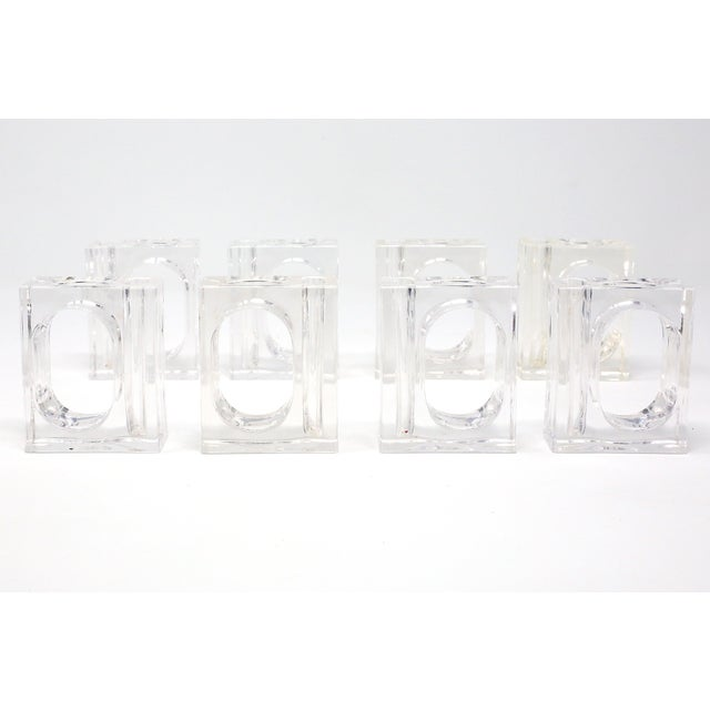 Vintage Lillian Vernon Lucite Vase Napkin Rings - Set of 8 For Sale In Tampa - Image 6 of 13