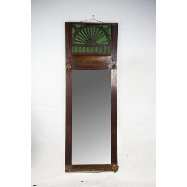1920s French Country Oak Carved Window Mirror For Sale - Image 11 of 11