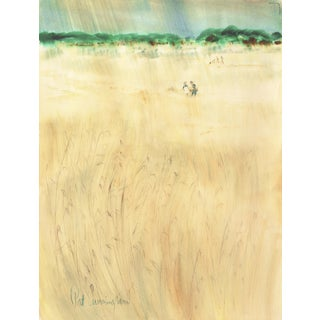 'Modernist California Landscape' by Patricia Stanley Cunningham, Woman Artist and Wpa Painter, Aic, Carmel Circa 1970 For Sale