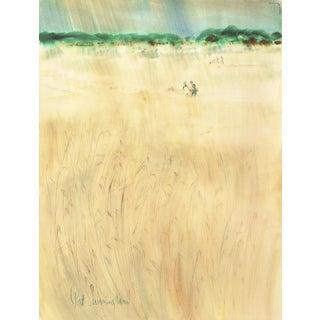 Patricia Stanley Cunningham, 'Modernist California Landscape', Woman Artist and Wpa Painter, Aic, Carmel Circa 1970 For Sale